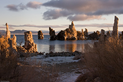 Mono Lake sunrise in winter. This picture won a Merit Award from the New York Institute of Photography.