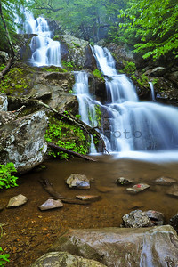 Shenandoah waterfall landscape