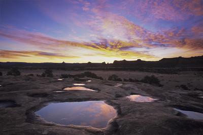 Rain-filled Potholes, Canyonlands National Park