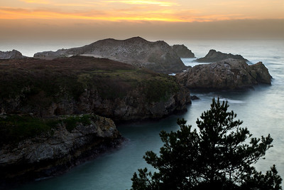 Point Lobos - Bird Island sunset.