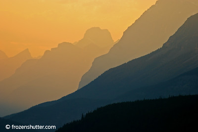 Mountain Shadows - Banff National Park