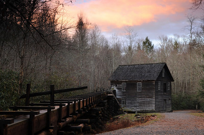 Mingus Mill in the Great Smokey Mountains National Park. Cherokee, NC