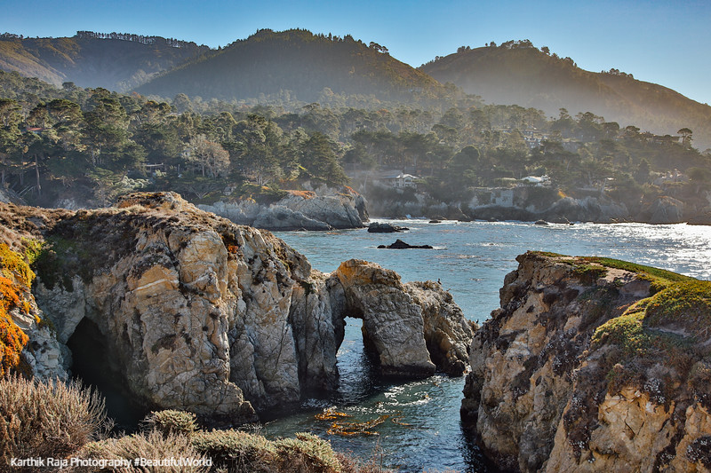Arch, Bird Island Trail, Point Lobos State Natural Reserve,  California