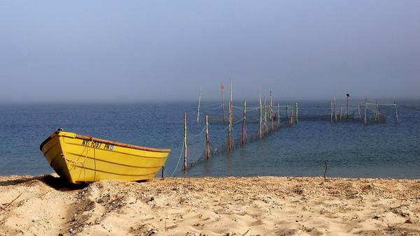 Yellow Boat in Montauk, Long Island, NY