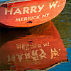 Harry W, red fishing boat