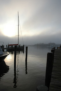 Foggy Morning, City Dock, Ego Alley