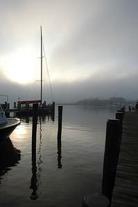Foggy Morning, City Dock, Ego Alley