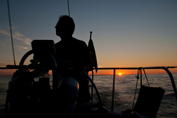 Sailing at sunrise, Long Island