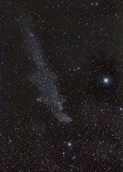 Witch Head Nebula and Rigel