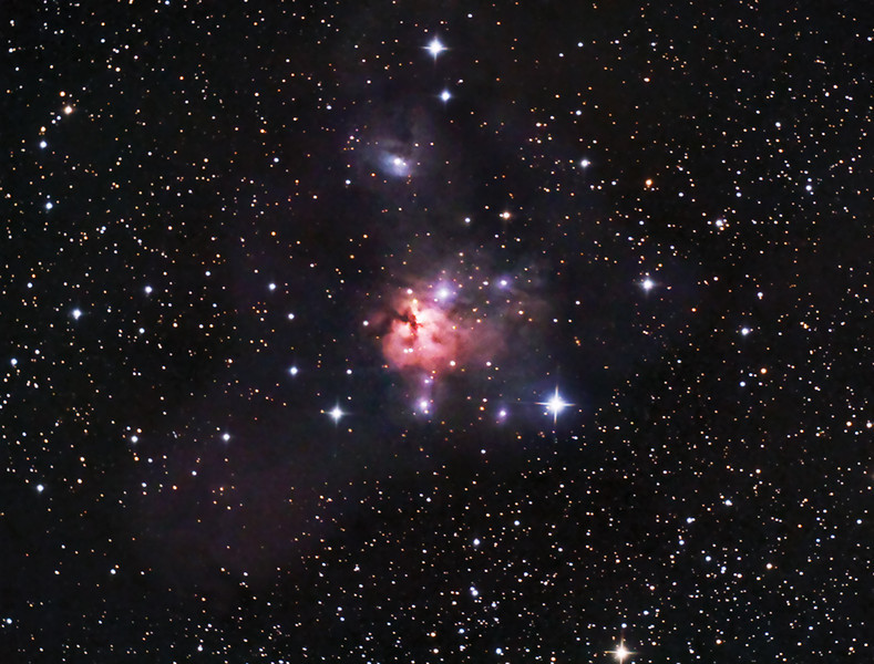 NGC 1579 - The Northern Trifid in Perseus<br /> January 6th, 2013 - DAS EGK Dark Site, Deer Trail, CO<br /> Canon 450D thru AstroTech AT8IN<br /> 1 hr, 18min RGB at ISO1800