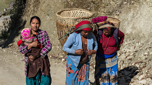 Nepalese women on the road