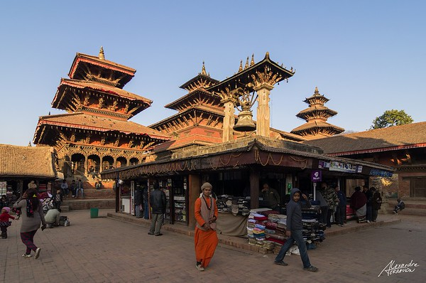 Patan at sunset.
