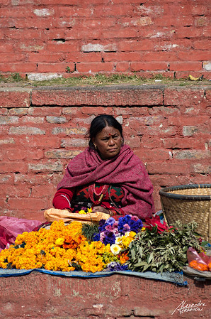 Durbar Square market seller