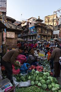 Street scene of Kathmandu