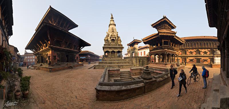 Bhaktapur Durbar Square panoramic view