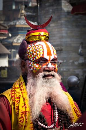 Sadu in the streets of Kathmandu