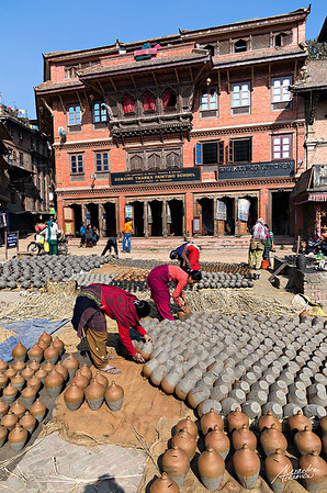 Potter's quarter in Bhaktapur city