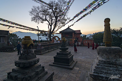 Sunset around Swayambunath