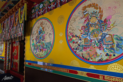 Inside the Namo Boudha monastery