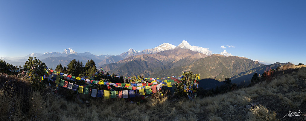 Panoramic view of the Annapurna from Poon Hill