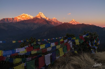 Sunset over the Annapurna's from Poon Hill.