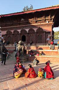 Street scene in Durbar Square of Kathmandu