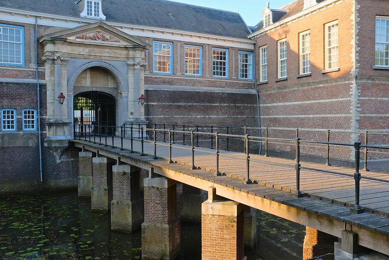 Moat and Bridge, Breda Castle - Breda, Netherlands