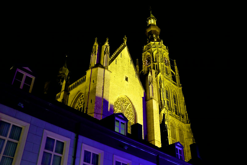Grote Church Illuminated - Breda, Netherlands
