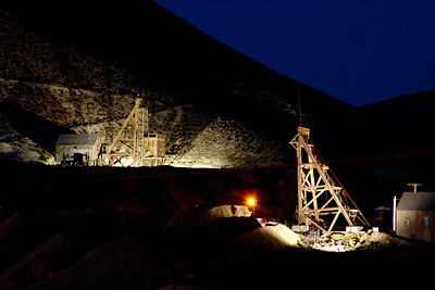 Headframes Tonopah Mining Park