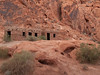 Valley of Fire, Nevada.  THE CABINS:There are 2 Rock Cabins in the Valley of Fire State Park, built by the Civilian Conservation Corps in the 1930's. The Cabins were built using native sandstone, and they were built to shelter weary travelers.