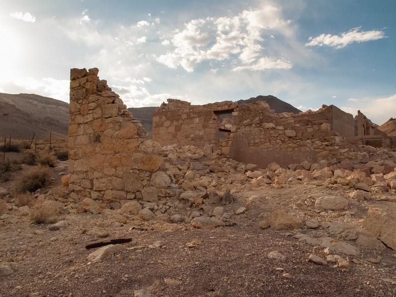 Rhyolite, Nevada ghost town.