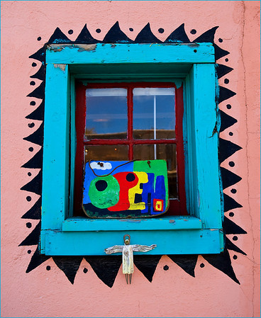 A shop window in Madrid, New Mexico