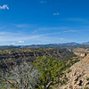 Panorama of the Bandelier National Monument area.
