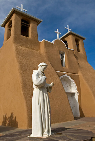 San Francisco de Asis, Taos, New Mexico Most famous, it was painted by Georgia O'Keeffe and photographed by Ansel Adams.