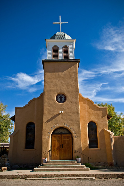 "Church in Los Cerrillos, New Mexico, the church of "" Iciesia San Jose"""