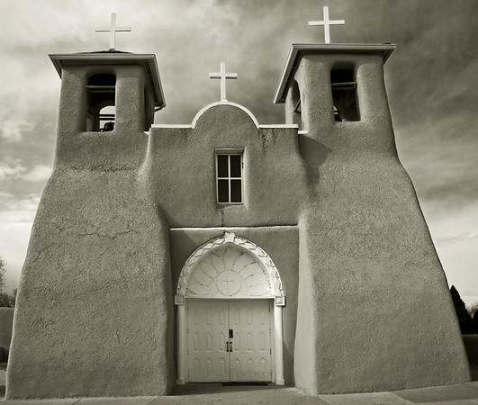 San Francisco de Asis, Taos, New Mexico<br /> Most famous, it was painted by Georgia O'Keeffe and photographed by Ansel Adams.