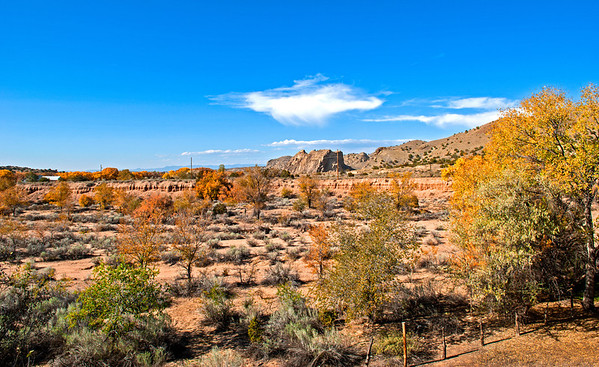 Galisteo River View in New Mexico