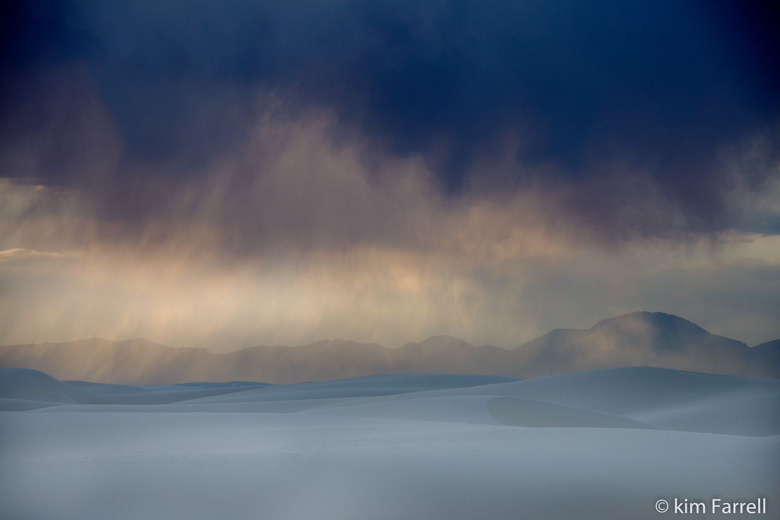 Spring storm.  White Sands National Monument.