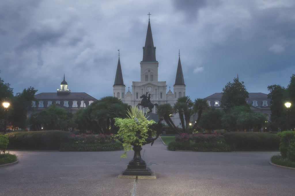 Foggy Night at St. Louis Cathedral (New Orleans, Louisiana)