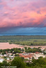 Colorful clouds at sunset over Lock and Dam No. 10 on the Mississippi River in Guttenberg, Iowa<br /> <br /> August 17, 2017