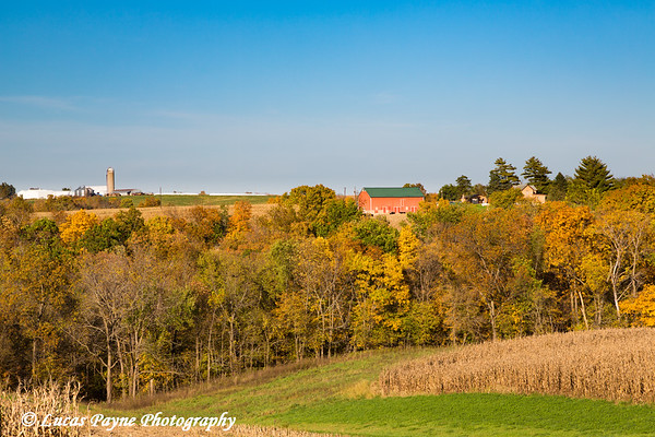 Fall foliage and a farm in Clayton County, Iowa<br /> <br /> October 17, 2017