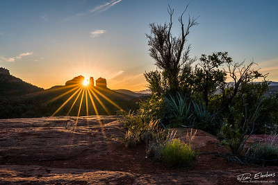 Cathedral Rock Sunburst