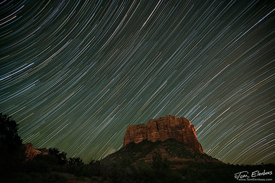 Courthouse Butte Star Trails