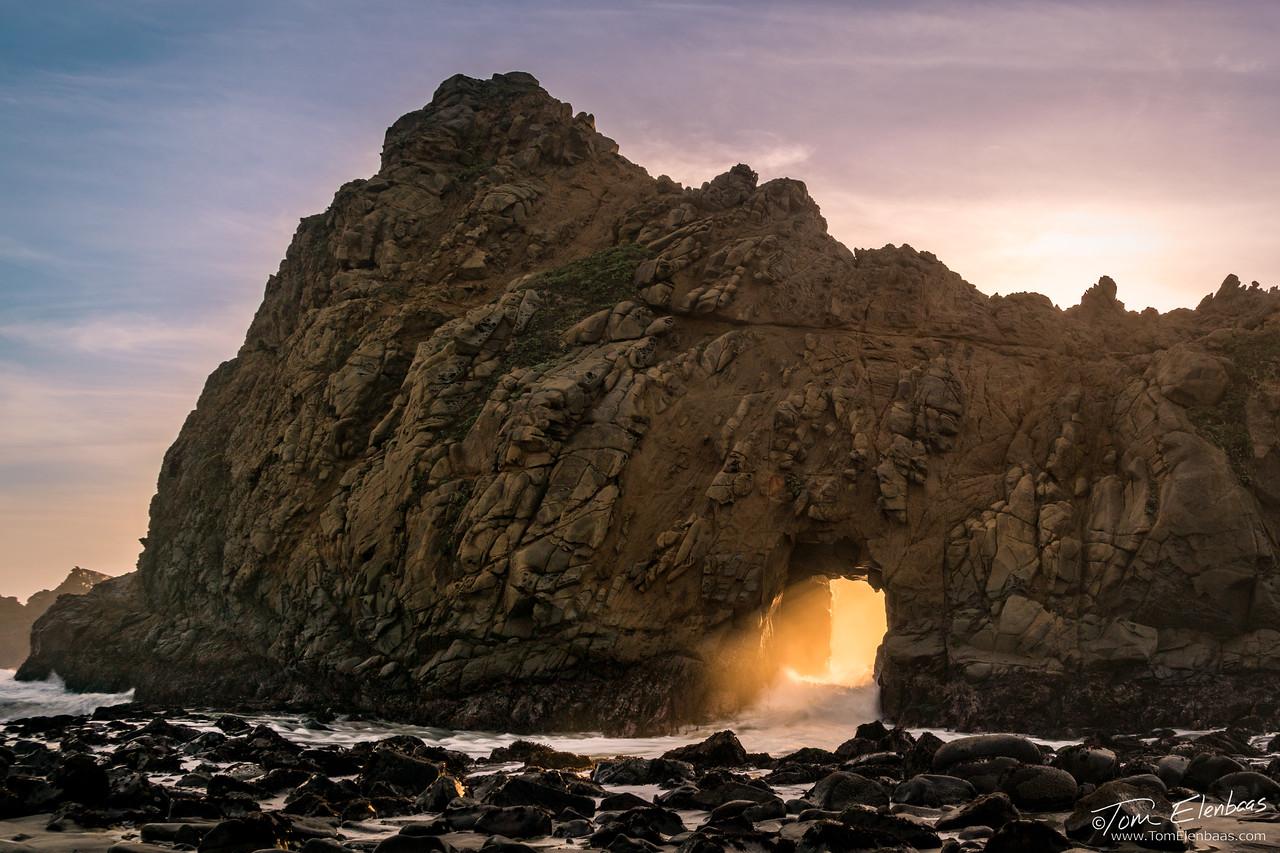 Keyhole Arch II, Pfeiffer Beach, Big Sur