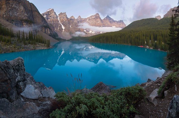 Morning at Moraine - Banff National Park, Alberta