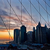 NYC sunset from the Brooklyn Bridge