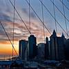 NYC sunset from the Brooklyn Bridge
