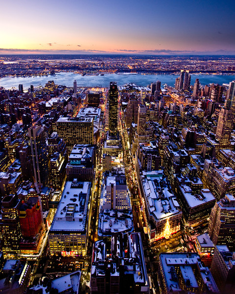 Macy's and the Hudson from the Empire State Building