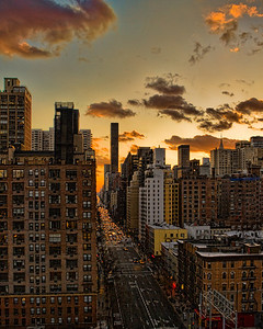 1st Ave on the east side from the Roosevelt Island Tram  Photographing New York City. http://amzn.to/dfgnyc