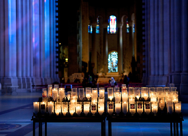 Candles in St. John the Divine, New York City